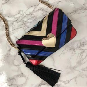 Victoria's Secret rainbow chevron mini bag